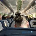 لحظات دلهره اور خوفناک برای مسافران یک هواپیما در اوج آسمان + فیلم