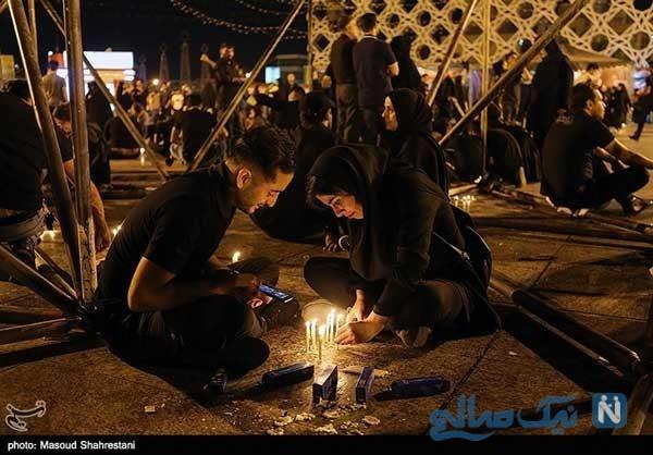مراسم شام غریبان در میدان امام حسین تهران