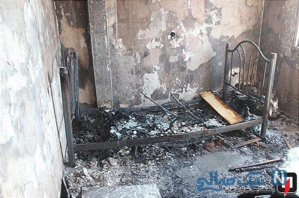 کودک شش ساله و نجات معجزه آسای او از آتش سوزی در بزرگراه نواب