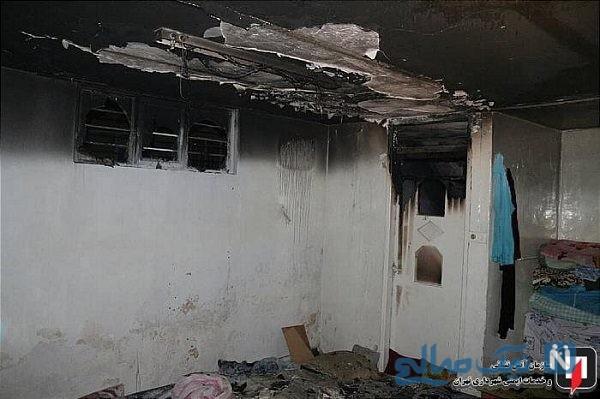 نجات معجزه آسای دختر سه ساله از آتش سوزی در تهران
