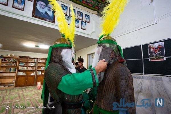 ورود نمادین کاروان امام حسین به دشت کربلا در همدان