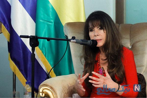 پوشش جالب سفیر زن بولیوی در مراسم عزاداری در تهران+تصاویر