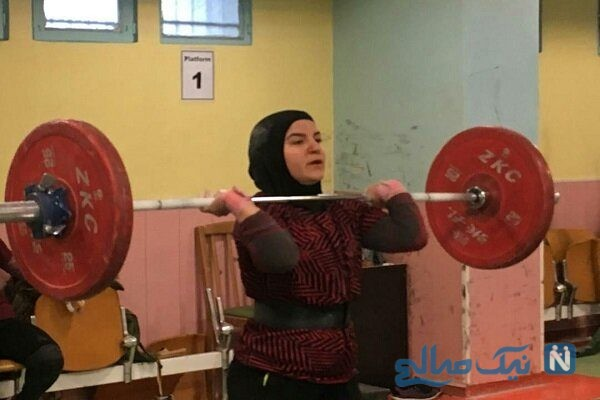 پوپک بسامی وزنه بردار دختر ایرانی در مسابقات جهانی