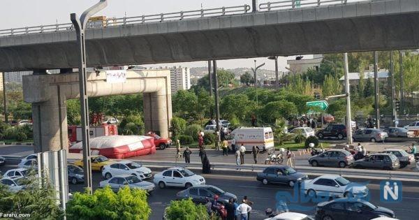 تصاویر خودکشی نافرجام در تهران