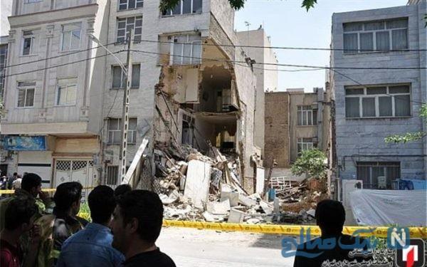 نجات معجزه آسای مرد جوان ۲۲ ساله تهرانی از زیر آوار ساختمان