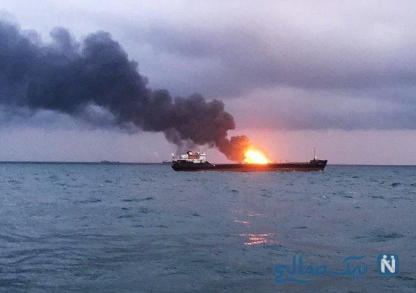 انفجار در نفتکش ایرانی در دریای سرخ حوالی جده عربستان | حمله موشکی یا انفجار ؟