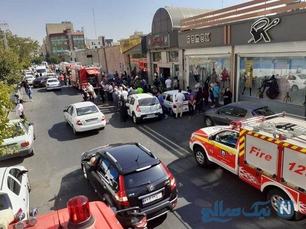 انفجار شدید در تهران مجتمع تجاری بوستان