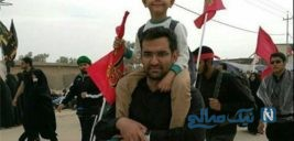 اهل و عیال وزیر ارتباطات در پیاده روی اربعین به همراه خود او