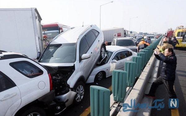 تصادف در اتوبان کرج قزوین