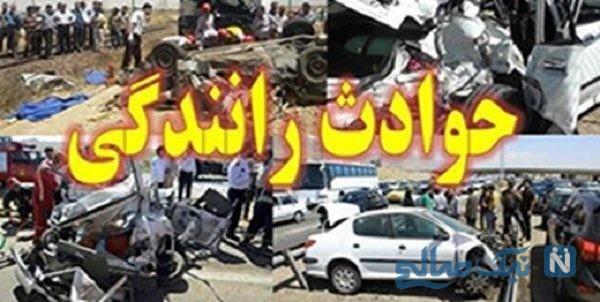 تصادف در اتوبان کرج قزوین برخورد ۲۶ ماشین و ۱۰۸ نفر زخمی