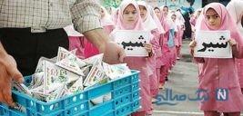 توزیع شیر رایگان در مدارس این ۸ استان