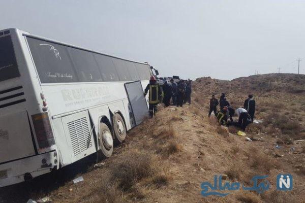 حادثه واژگونی اتوبوس