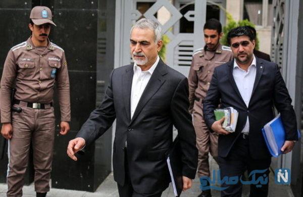 حسین فریدون در زندان اوین برای اجرای حکم