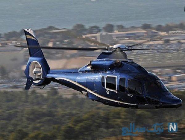 خلبان هلیکوپتر خوش شانس که خطر از بیخ گوشش گذشت !