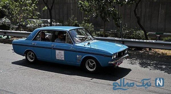 خودروهای کلاسیک و قدیمی در پیست اتومبیل رانی ورزشگاه آزادی