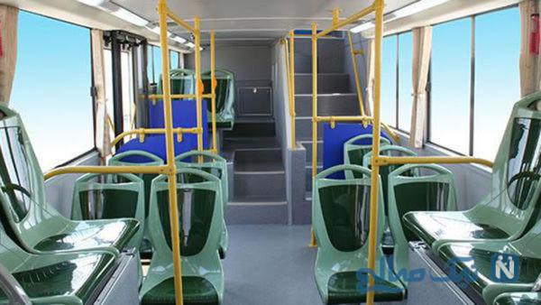 اقدام جالب یک بانوی ایرانی در دوخت روکش صندلی اتوبوس!