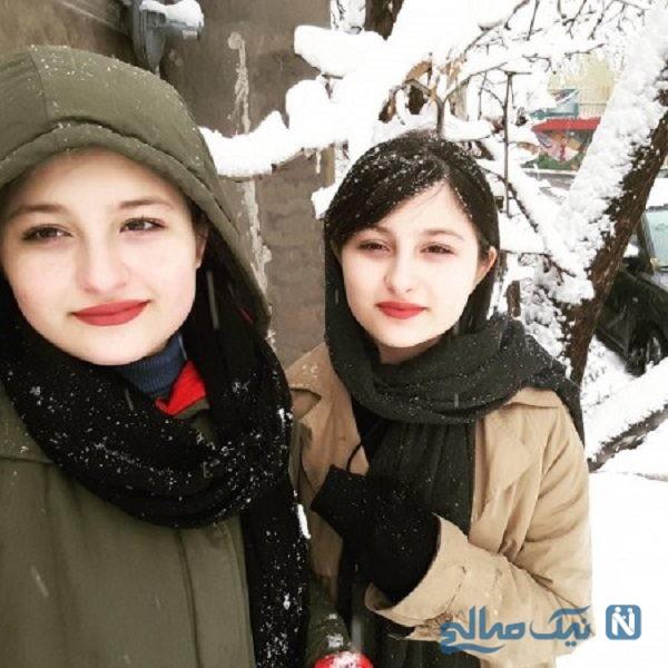 دوقلوهای پایتخت در میان زنان ورزشگاه ، حامی تیم ملی ایران