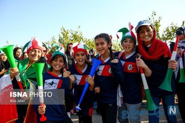 بانوان ایرانی در ورزشگاه آزادی حاشیه نگاری و کلی عکس و فیلم