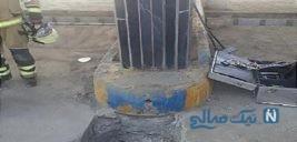 مصدومیت زن ۳۸ ساله بر اثر سقوط در چاه پمپ بنزین