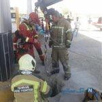 سقوط زن جوان به داخل چاه جایگاه سوخت آزادگان