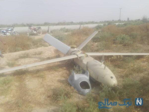 سقوط پهپاد ناشناس در شوشتر خوزستان
