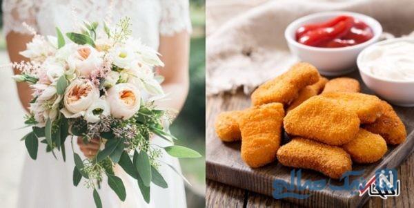 عجیب ترین دسته گل عروس که تابحال دیده اید