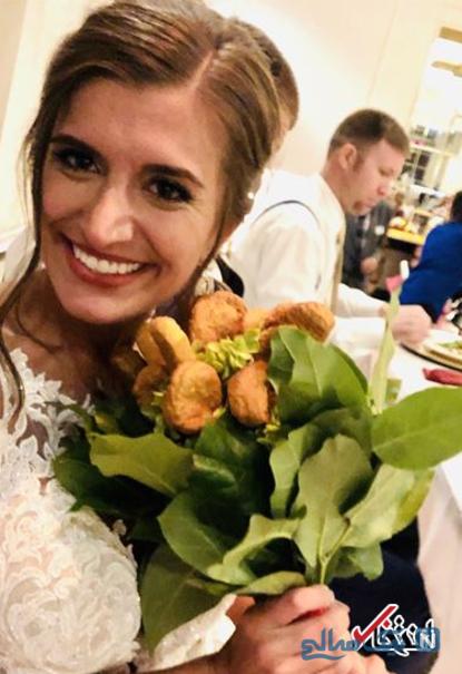 عجیب ترین دسته گل عروس