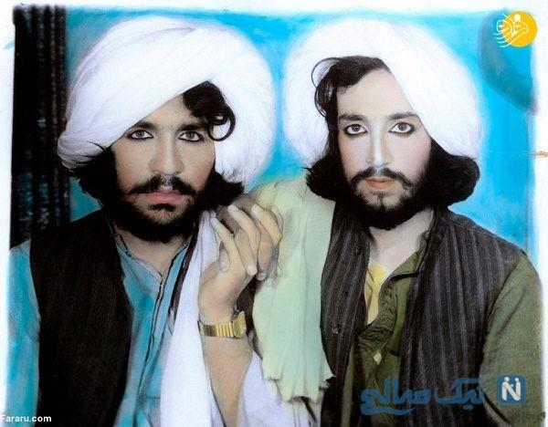عجیب ولی واقعی عکس نیروهای طالبان با آرایش زنانه