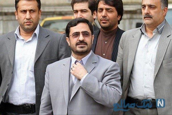 بازگشت سعید مرتضوی از پیاده روی اربعین در فرودگاه نجف