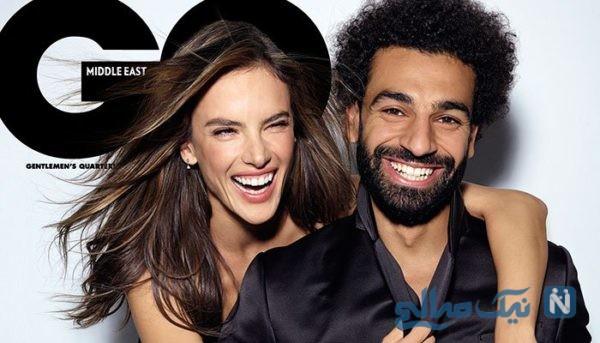حضور جنجالی محمد صلاح در کنار مدل معروف در مجله مدلینگ