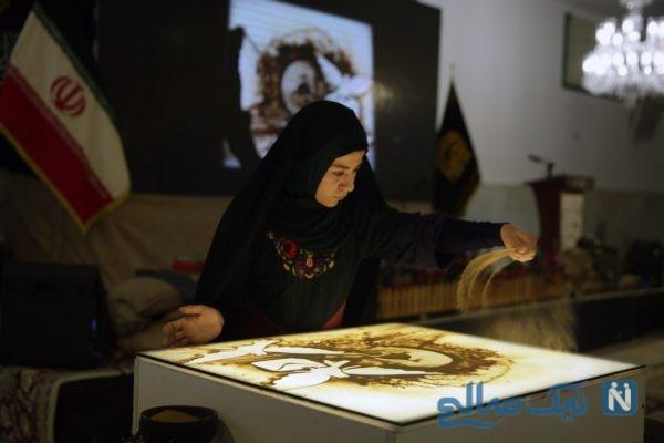 هنرنمایی فاطمه عبادی برنده عصر جدید در حرم امام هشتم