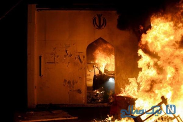 آتش زدن کنسولگری ایران در عراق