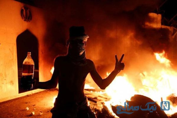 تصویری از عامل آتش زدن کنسولگری ایران در عراق