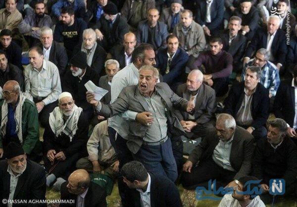 ماجرای اعتراض در نماز جمعه تهران و بیرون انداختن او