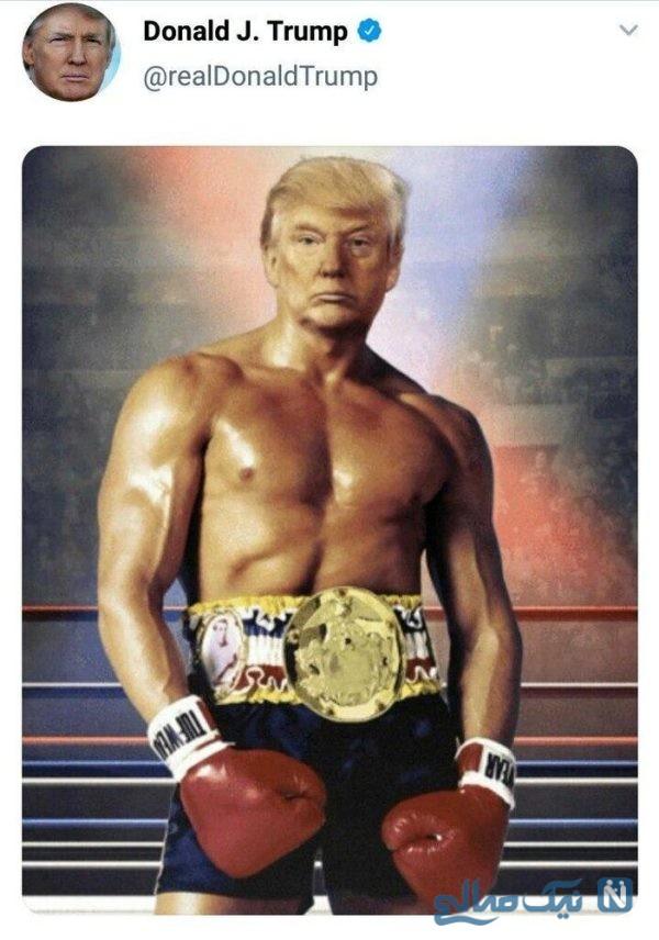 عکس عجیب ترامپ
