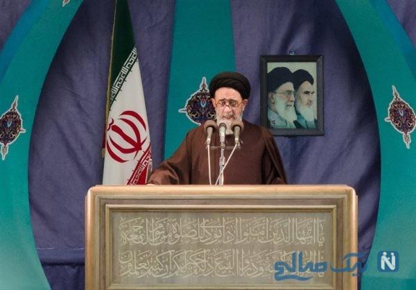 امام جمعه تبریز در حال تبلیغ یک فیلم سینمایی