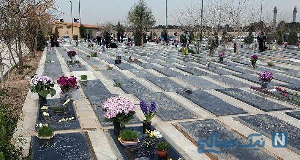 حیرت مردم از تصویر روی سنگ قبر یک خانم ایرانی