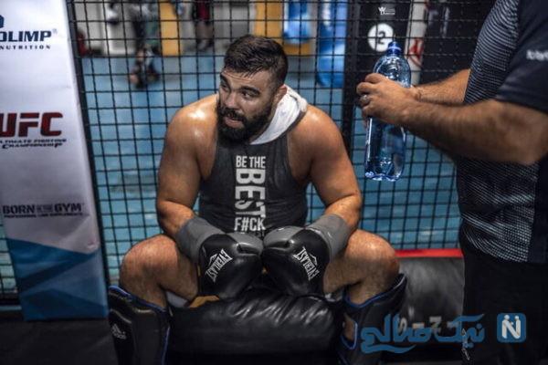 تحریم امیر علیاکبری در UFC | غول ایرانی هم تحریم شد