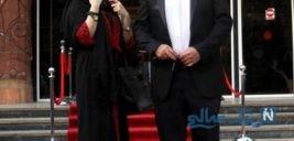 حمید لولایی و همسرش در کنار دخترشان