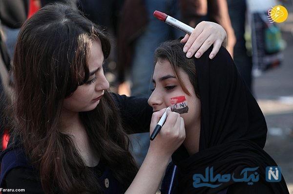 دختران و زنان عراقی در میان معترضان