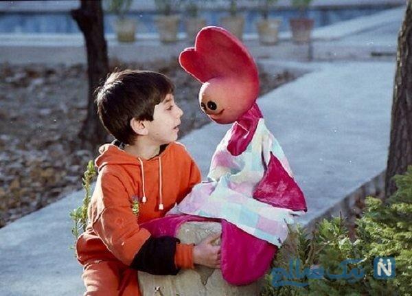 لیلی رشیدی در کنار بازیگر کودک سریال زیزیگولو