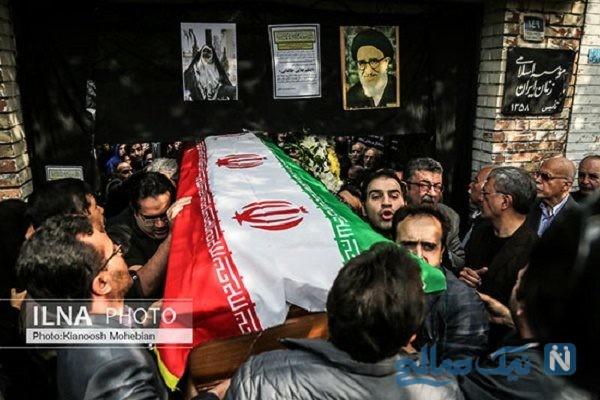 حضور چهره های سیاسی در مراسم تشییع اعظم طالقانی