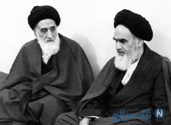تصویری دیده نشده از برادر بزرگتر امام خمینی در کنار خود امام (ره)