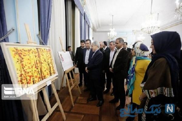 نمایشگاه نقاشی های مریم حیدرزاده با حضور نوبخت