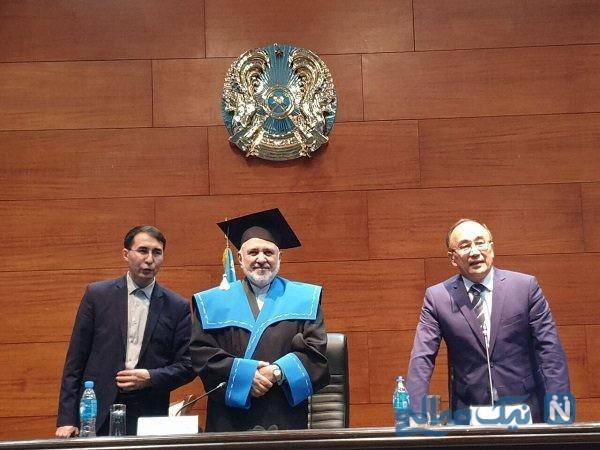 پروفسور افتخاری دانشگاه قزاقستان به ظریف اعطا شد