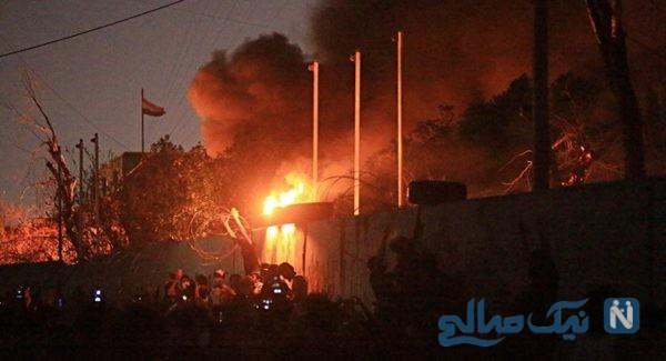 آتش زدن کنسولگری ایران