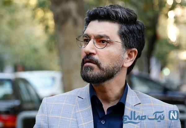 عکس یلدایی امیرحسین مدرس در کنار همسرش