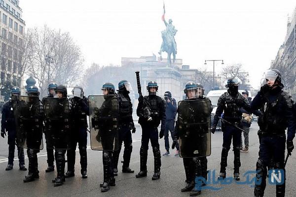 اعتصابات سراسری فرانسه پاریس را در شوک فرو برد
