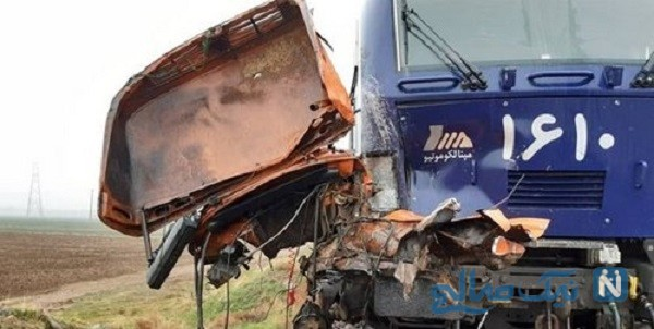 برخورد کامیون با قطار تهران رشت حادثه آفرید