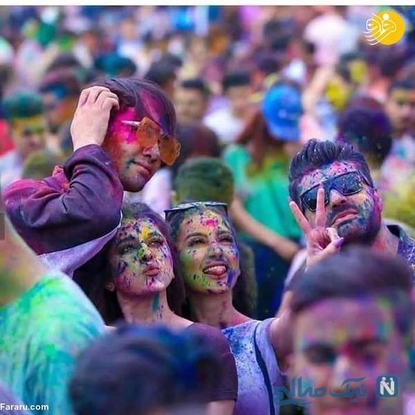 جشن رنگ در سوریه با حضور هزاران دختر و پسر سوری